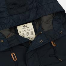 Мужская куртка парка Alpha Industries Hooded Fishtail CW TT Replica Blue фото- 1