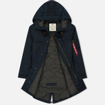 Мужская куртка парка Alpha Industries Hooded Fishtail CW TT Replica Blue фото- 2