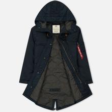 Мужская куртка парка Alpha Industries Hooded Fishtail CW TT Replica Blue фото- 2
