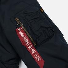 Мужская куртка парка Alpha Industries Hooded Fishtail CW TT Replica Blue фото- 6