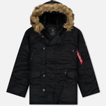 Мужская куртка парка Alpha Industries N-3B Black фото- 0
