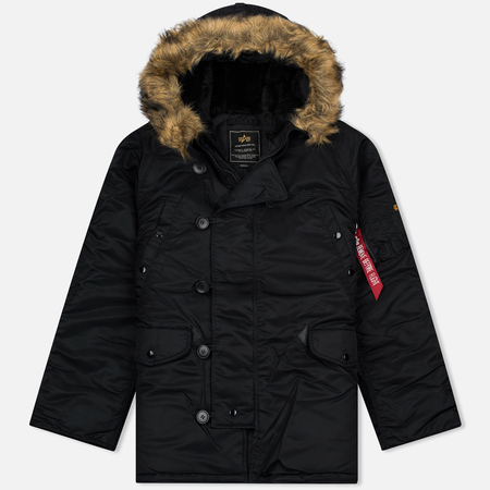Мужская куртка парка Alpha Industries N-3B Black