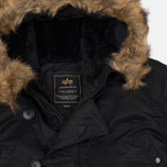 Мужская куртка парка Alpha Industries N-3B Black фото- 1