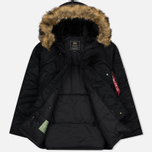 Мужская куртка парка Alpha Industries N-3B Black фото- 2