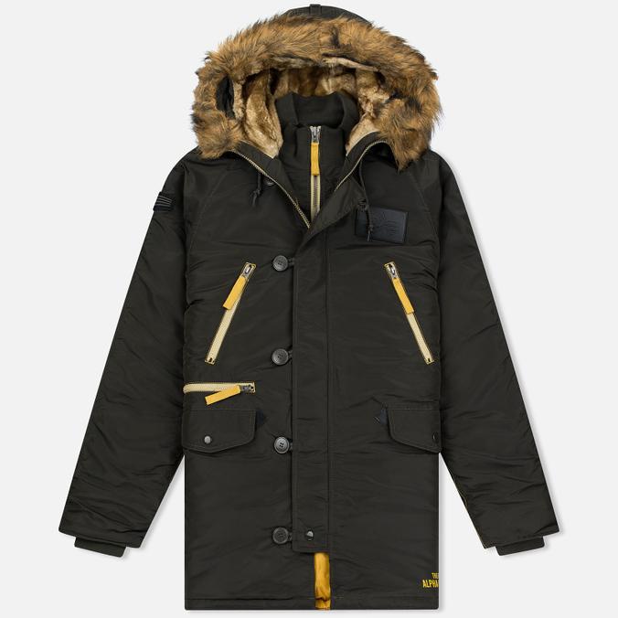 Мужская куртка парка Alpha Industries N-3B Inclement Replica Grey