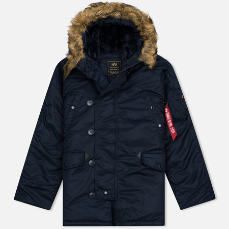 Alpha Industries N-3B Replica Men's Parka Blue/Orange