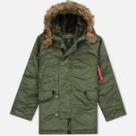 Мужская куртка парка Alpha Industries N-3B Sage Green фото- 0
