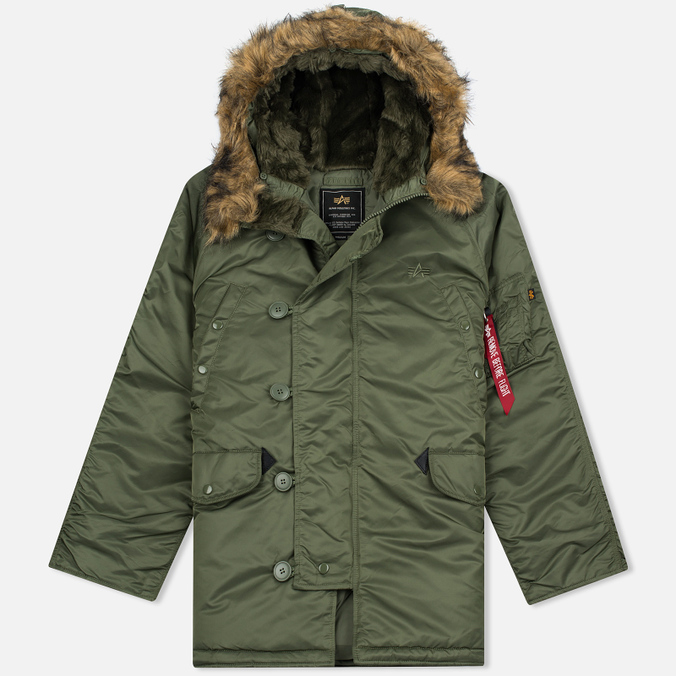 Мужская куртка парка Alpha Industries N-3B Sage Green