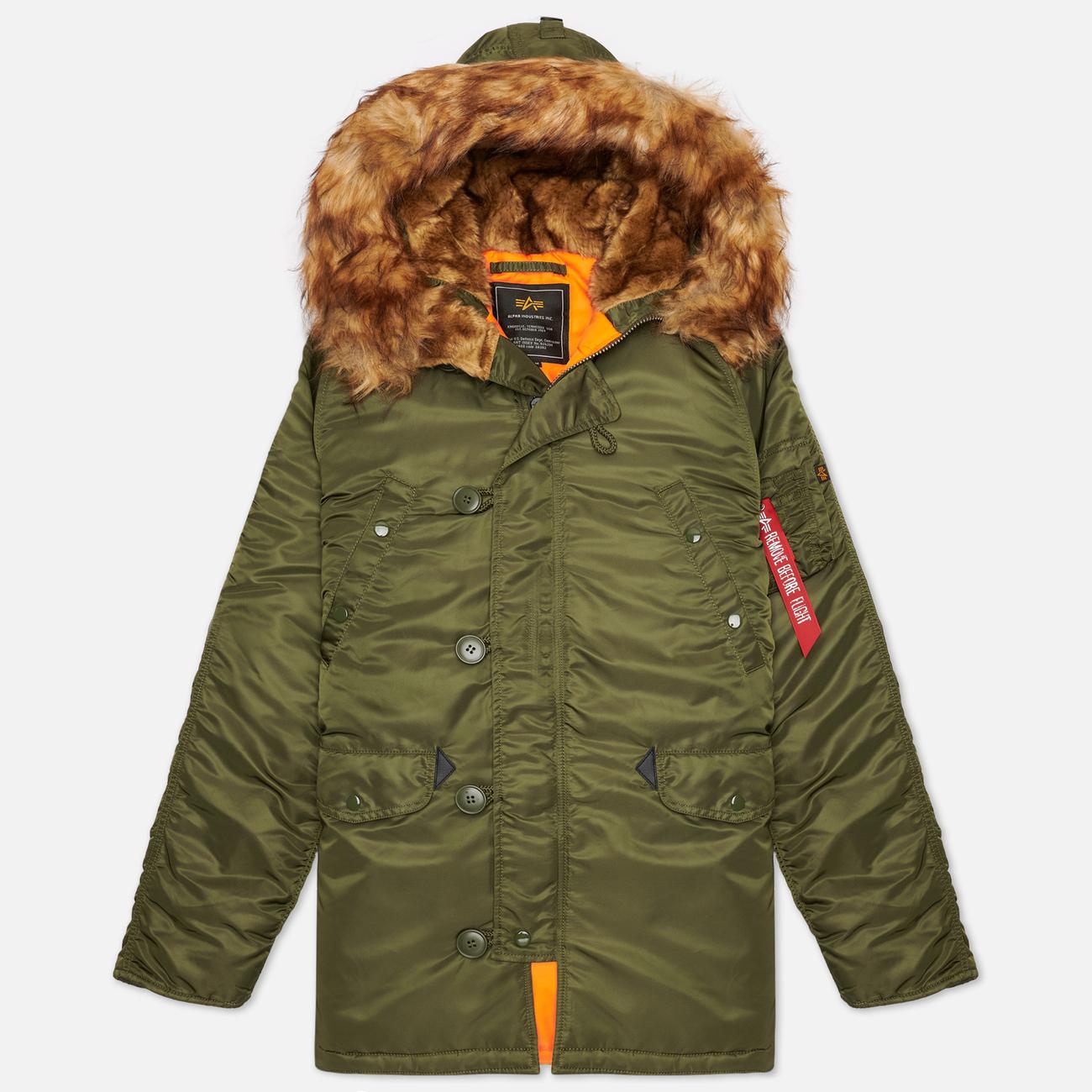 Мужская куртка парка Alpha Industries N3B VF 59 Dark Green