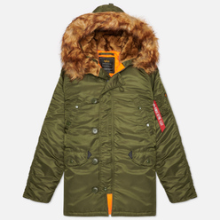Мужская куртка парка Alpha Industries N3B VF 59 Dark Green