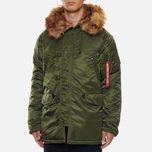 Мужская куртка парка Alpha Industries N3B VF 59 Dark Green фото- 3
