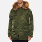 Мужская куртка парка Alpha Industries N3B VF 59 Dark Green фото - 3