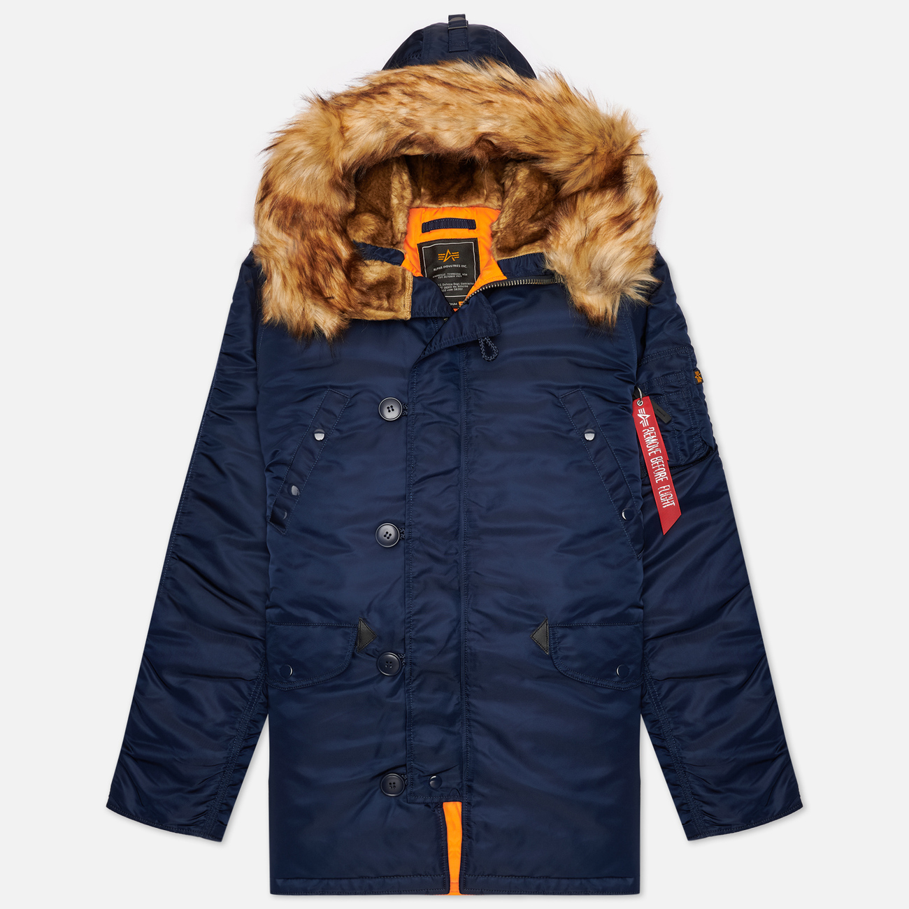 Мужская куртка парка Alpha Industries N3B VF 59 Replica Blue