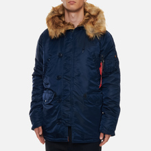 Мужская куртка парка Alpha Industries N3B VF 59 Replica Blue фото- 3