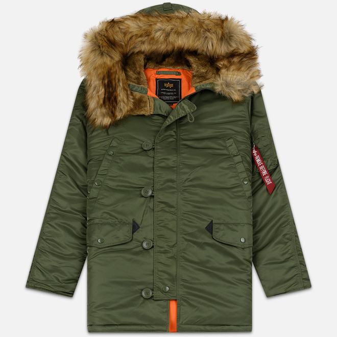 Мужская куртка парка Alpha Industries N3B VF 59 Sage Green