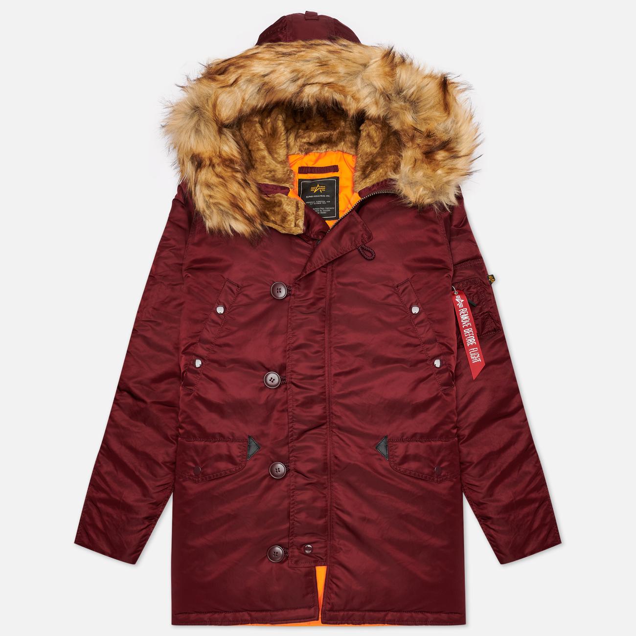 Мужская куртка парка Alpha Industries N3B VF 59 Wine Red