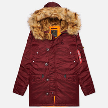 Мужская куртка парка Alpha Industries N3B VF 59 Wine Red фото- 0