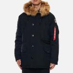 Мужская куртка парка Alpha Industries Polar Black фото- 4