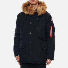 Мужская куртка парка Alpha Industries Polar Black фото- 4