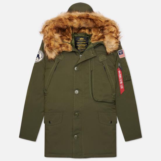 Мужская куртка парка Alpha Industries Polar Dark Green