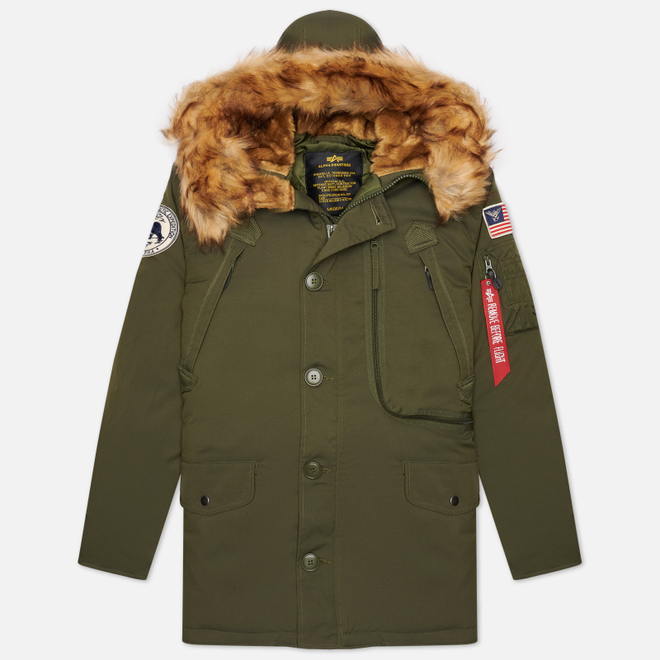 Мужская куртка парка Alpha Industries Polar Dark Green