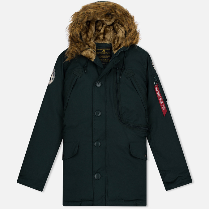 Мужская куртка парка Alpha Industries Polar Dark Petrol