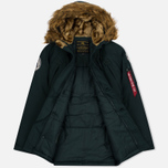 Мужская куртка парка Alpha Industries Polar Dark Petrol фото- 2