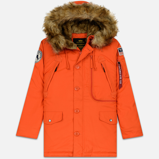 Мужская куртка парка Alpha Industries Polar Flame Orange