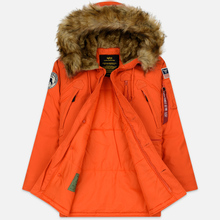 Мужская куртка парка Alpha Industries Polar Flame Orange фото- 2