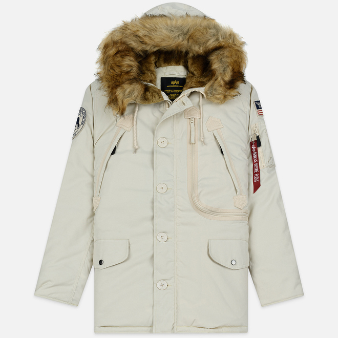 Мужская куртка парка Alpha Industries Polar Off White