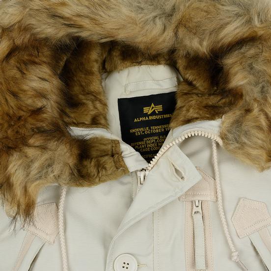 Мужская куртка парка Alpha Industries Polar Off White