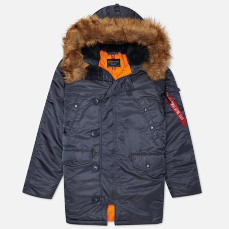 Мужская куртка парка Alpha Industries Slim Fit N-3B Steel Blue/Orange