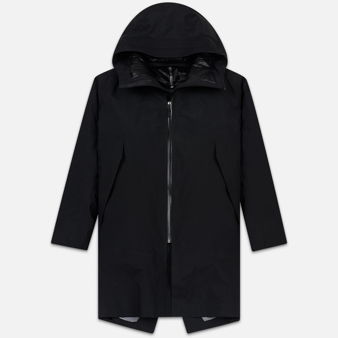 Мужская куртка парка Arcteryx Veilance Monitor Down Gore-Tex Pro 3L Black