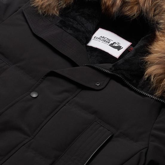 Мужская куртка парка Arctic Explorer Neft Black