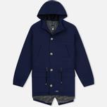 Мужская куртка парка Bleu De Paname Gabardine Natte Blue фото- 0