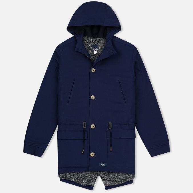 Мужская куртка парка Bleu De Paname Gabardine Natte Blue