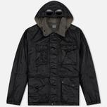 Мужская демисезонная куртка C.P. Company Rubber Goggle Black фото- 0