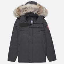 Мужская куртка парка Canada Goose Wyndham Graphite фото- 0