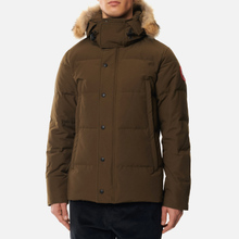 Мужская куртка парка Canada Goose Wyndham Military Green фото- 3