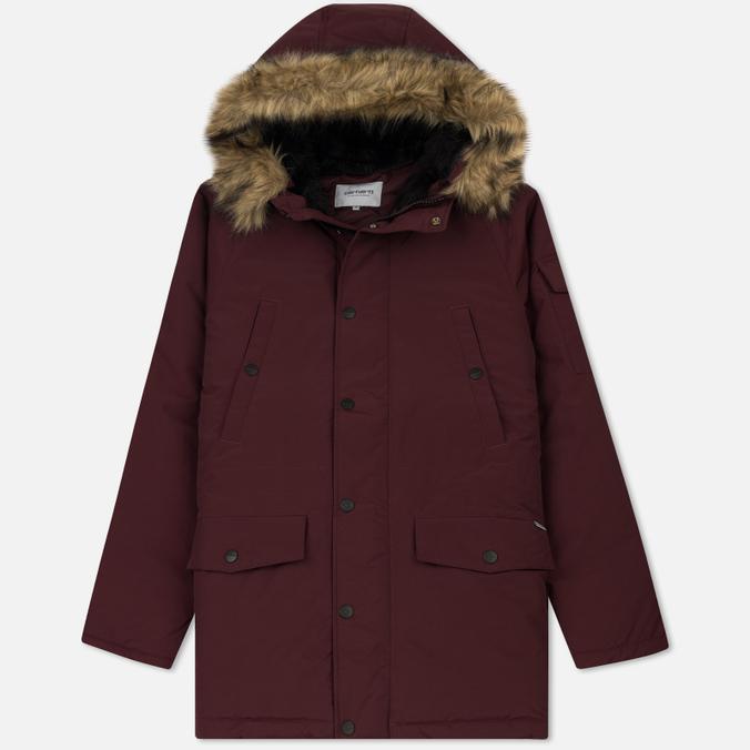 Мужская куртка парка Carhartt WIP Anchorage 4.7 Oz Amarone/Black