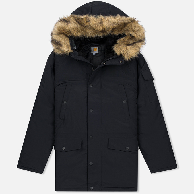 Мужская куртка парка Carhartt WIP Anchorage 4.7 Oz Black/Black