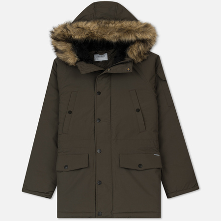 Мужская куртка парка Carhartt WIP Anchorage 4.7 Oz Cypress/Black