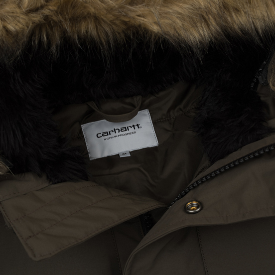 Мужская куртка парка Carhartt WIP Anchorage 4.7 Oz Cypress/Black