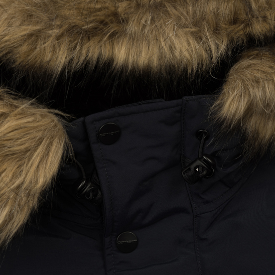 Мужская куртка парка Carhartt WIP Anchorage 4.7 Oz Dark Navy/Black