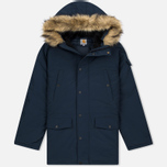 Мужская куртка парка Carhartt WIP Anchorage 4.7 Oz Navy/Black фото- 0