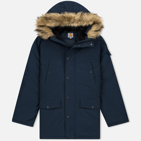 Мужская куртка парка Carhartt WIP Anchorage 4.7 Oz Navy/Black