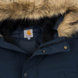 Мужская куртка парка Carhartt WIP Anchorage 4.7 Oz Navy/Black фото- 1