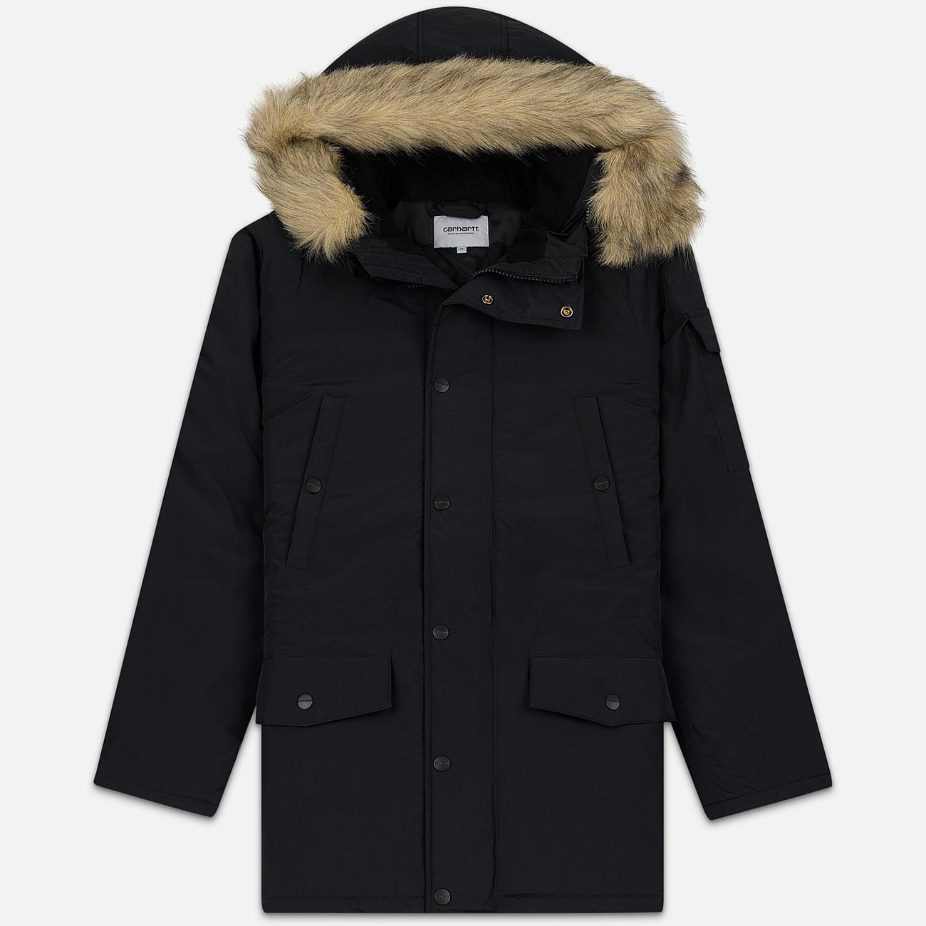 Мужская куртка парка Carhartt WIP Anchorage 4 Oz Black