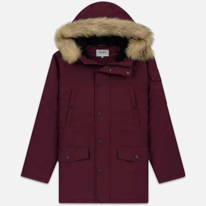 Мужская куртка парка Carhartt WIP Anchorage 4 Oz Merlot/Black