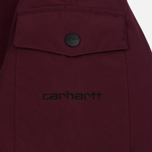 Мужская куртка парка Carhartt WIP Anchorage 4 Oz Merlot/Black фото- 1